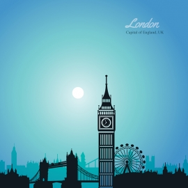 London Skyline Travel Vector