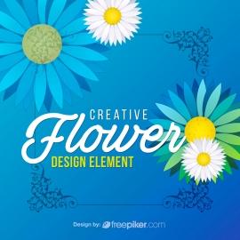Creative Flower Design Elements