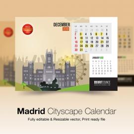 Madrid Cityscape Calendar