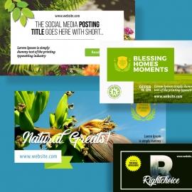 Facebook & Twitter Web Banners