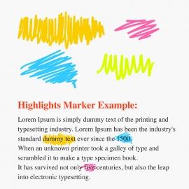 Handdrawn Vector Highlisghts Marker
