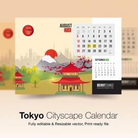 Tokyo Cityscape Calendar