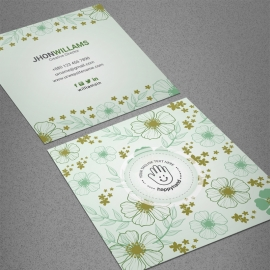 Corporate Square Floral Business Card