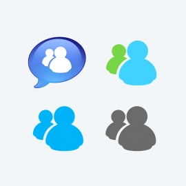 MSN Messenger Vector Icons