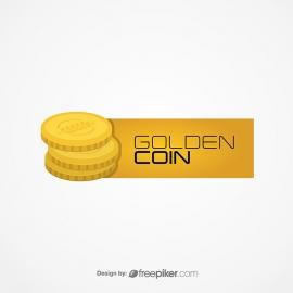 Golden Coin Minimal Logo