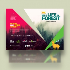 Forest Wild Life Travel Campaign Flyer