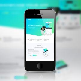 Responsive iPhone SmartPhone Screen Mockup