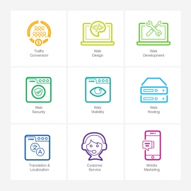 SEO Line Icons v5 Vector Icons
