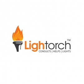 Torch Lighting Flame Logo