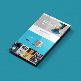 Web Display Showcase 3D Mockup