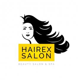 Beauty Salon Hair & Spa Girl Logo