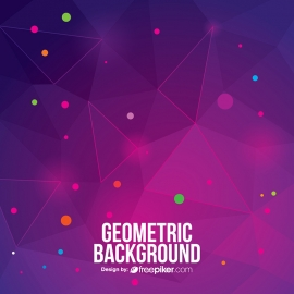 Technological Geometric Creative Background