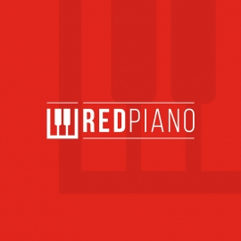 Red Piano Music Instrument Logo