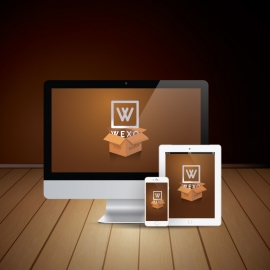 Vector Responsive Screen iMac & iPhone Vector