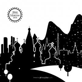 Moscow Skyline Cityscape Vector
