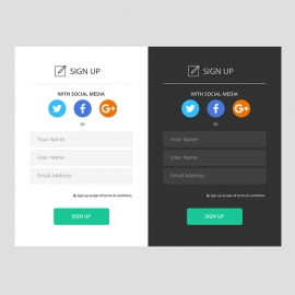 Responsive Sign up or Registration Form UI & UX