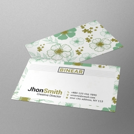 Floral Corporate Business Card