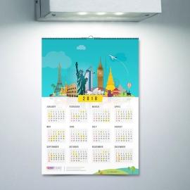 World Skyline Travel Calendar 2018