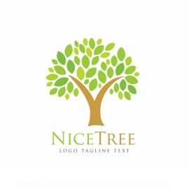 Nice Green Tree Logo