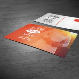 Save the Date Wedding Invitation Red PostCard