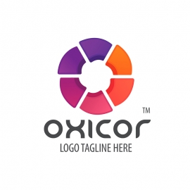 Colorful Abstract O Letter Logo
