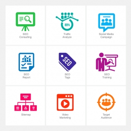 SEO Icons v4 Vector Icons