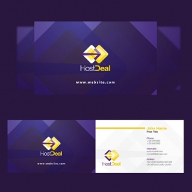 Corporate Hosting Studio Business Card