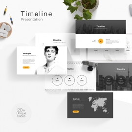 Timeline & Map Powerpoint Presentation