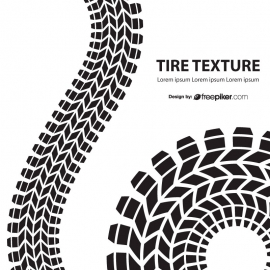 Tire Texture On With Background