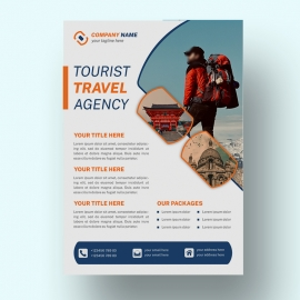 Tourist Travel Agency Flyer Template