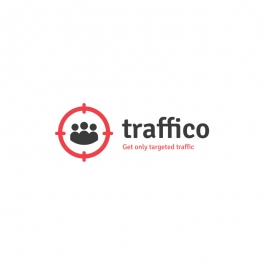 Traffico Logo with Targeted Audience Peoples Symbol