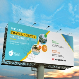 Travel Agency Billboard Sinage