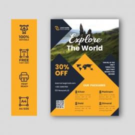 Travel Agency Flyer Ad Design