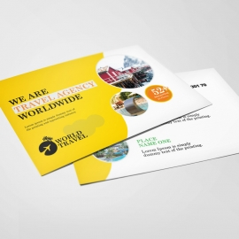 Travel Agency Postcard Templates
