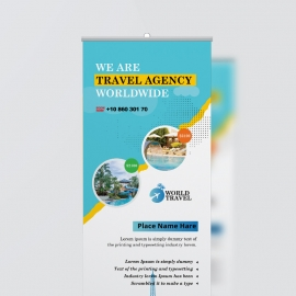 Travel Agency Rollup Banner