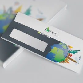 Travel DL Envelope Commercial With World Skyline Elements