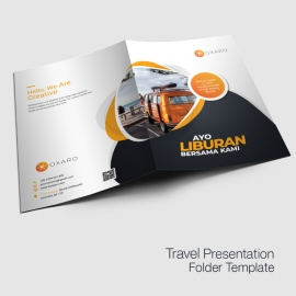 Travel Presentation Folder Template