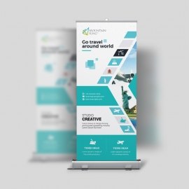 Travel  Roll-Up Banner