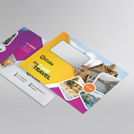 Travel & Tour B5_Envelope With Yellow & Magenta