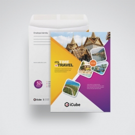 Travel & Tour C4 Envelope Catalog With Yellow & Magenta
