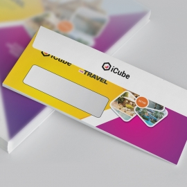 Travel & Tour DL Envelope Commercial With Yellow & Magenta