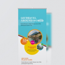 Travel & Tour Rollup Banner