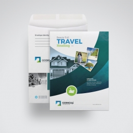 Travel & Tourism C4 Envelope Catalog With Abstract