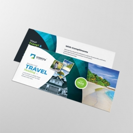 Travel & Tourism Compliment Card With Abstract