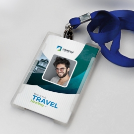 Travel & Tourism Identity Card With Abstract