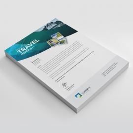 Travel & Tourism Letterhead With Abstract