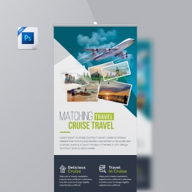 Travel & Tourism Rollup Banner