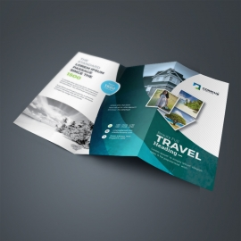 Travel & Tourism TriFold Brochure With Abstract
