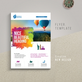 Travel Tours Flyer With Brush Style