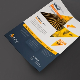 Triangle Business Flyer With Yellow Black